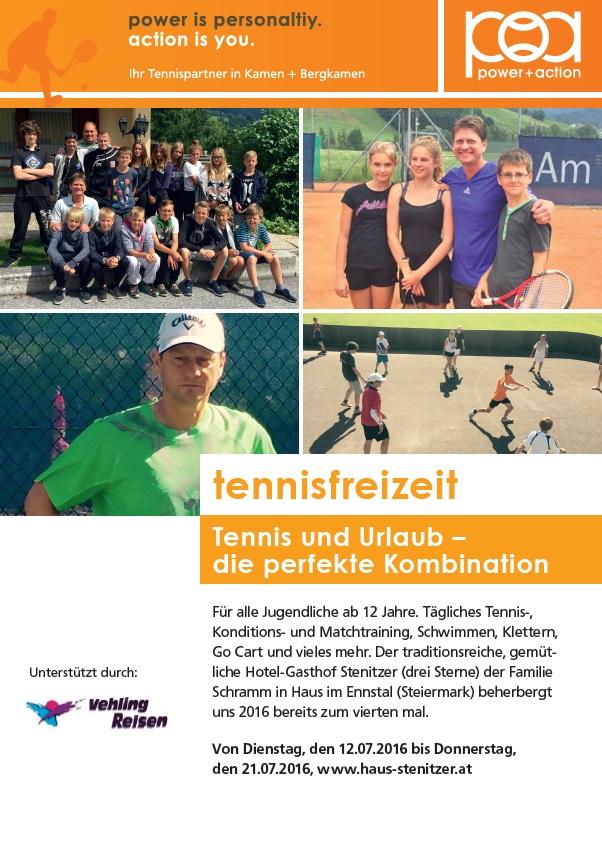 Tennisfreizeit Sommer